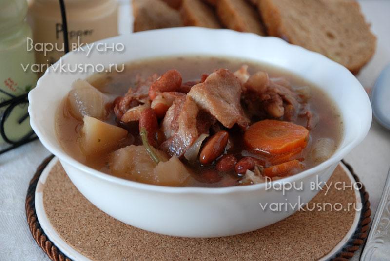 рецепт супа из баранины с фасолью
