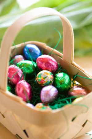 шоколадные яйца в фольге