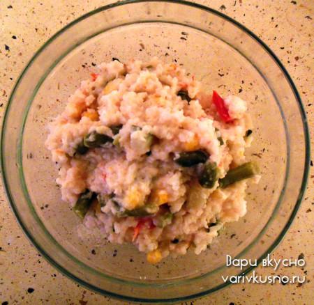 рецепт овощного ризотто с плавленным сырком