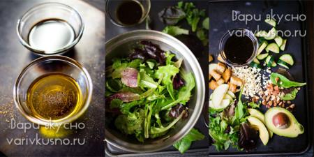 рецепт салата с авокадо и сыром горгонзола