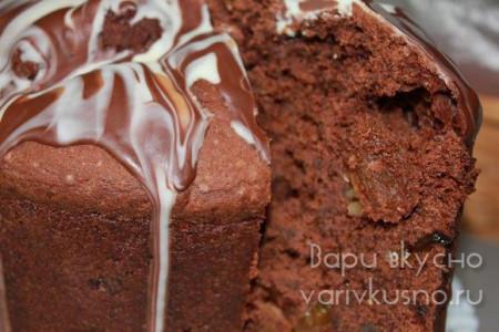 шоколадный кулич на Пасху