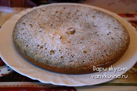 пирог посыпанный сахарной пудрой