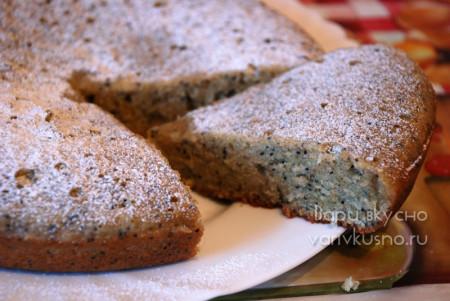 сладкий пирог с ржаной мукой в мультиварке