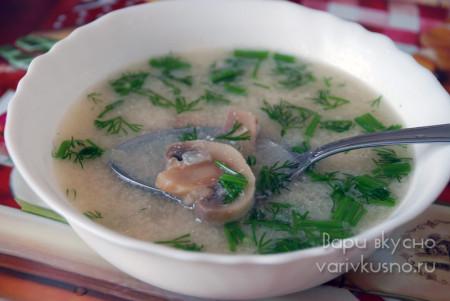 суп из плавленного сырка с грибами
