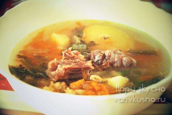 рецепт супа из супового набора свинины