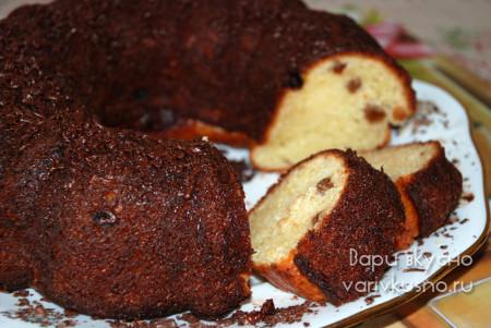 творожный кекс с изюмом рецепт с фото