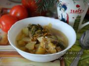 Кабачковый суп с рыбой в мультиварке-скороварке