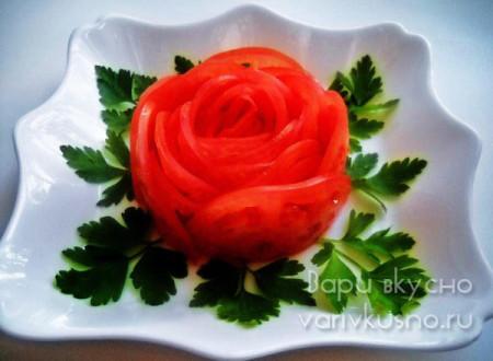 Роза из помидора фото