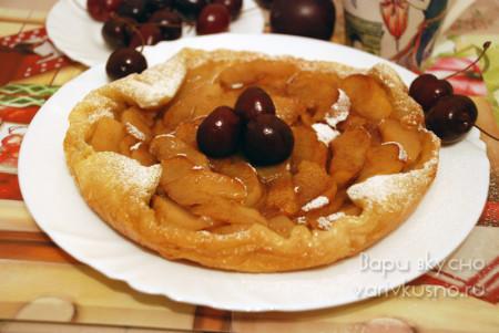 простой яблочный пирог в мультиварке