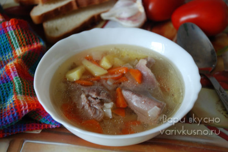 суп из индейки в мультиварке-скороварке Brand 6051