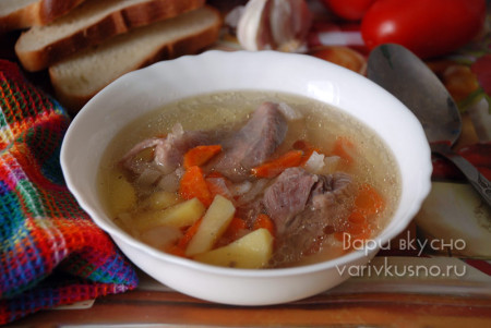 суп с индейкой в мультиварке-скороварке