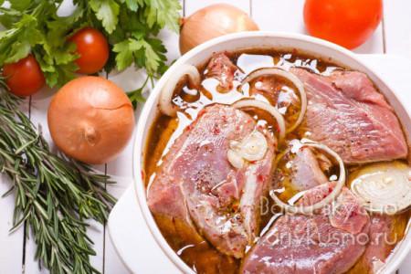 Свиной шашлык в уксусном маринаде