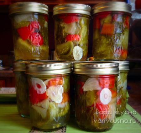 консервированный салат из зеленых помидор