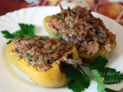 Перец фаршированный гречкой и грибами в духовке
