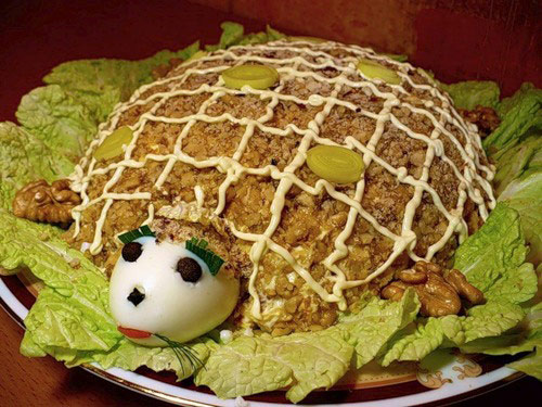 салат черепаха фото как приготовить