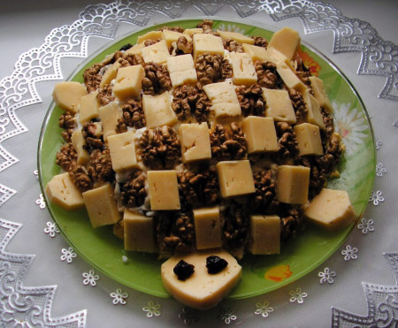 Салат черепаха с грибами фото