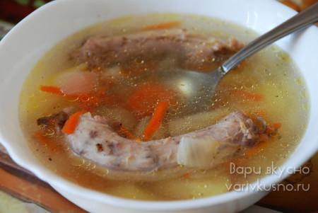 суп из куриных шеек в мультиварке скороварке