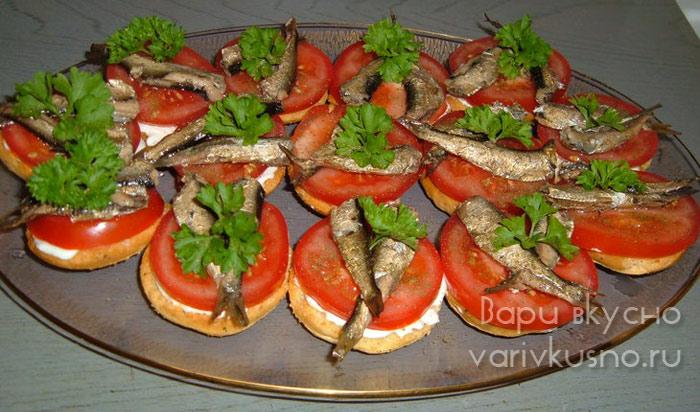 рецепт бутерброды са шпротами