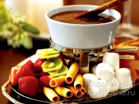 шоколадное фондю на праздник