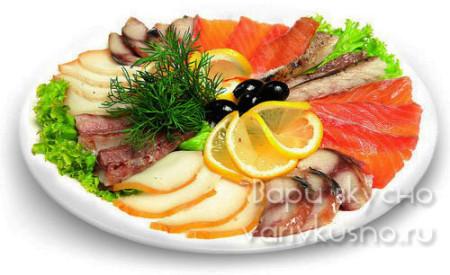 рыбная тарелка на праздник