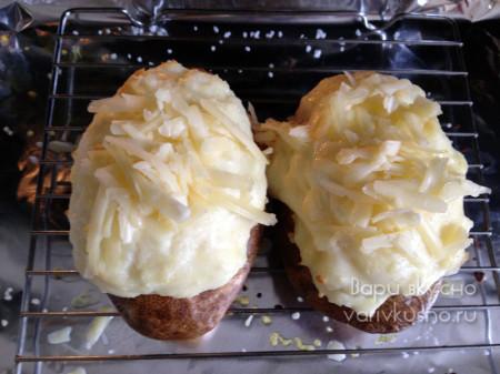 картофель фаршированный сыром в духовке