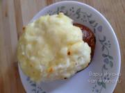 Картошка фаршированная сыром в духовке с чесноком