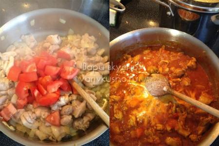 рецепт курицы карри с помидорами