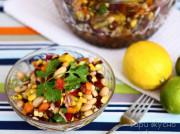 Мексиканский салат с фасолью и кукурузой