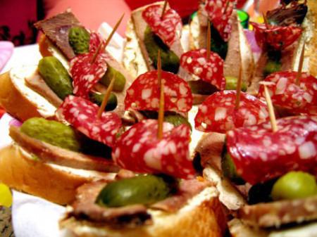несложные бутерброды на праздничный стол
