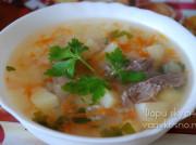 Суп из голени индейки с кускусом в мультиварке-скороварке Brand 6051
