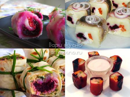 как украсить салат селедка под шубой