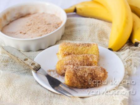 бананы с корицей во фритюре