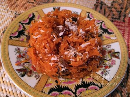 похудательный десерт из тертой сырой моркови