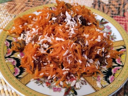 десерт из сырой моркови с восточными нотками