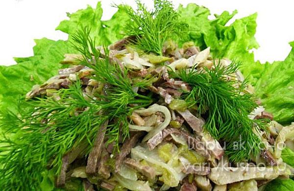 рецепты салатов с отварными шампиньонами