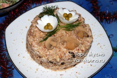новогодние салаты с индейкой с фото