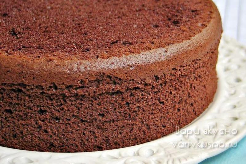 рецепт шоколадной шифоновой бисквит