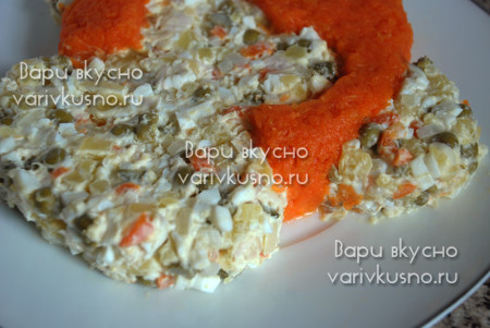 салат в виде обезьяны рецепт с фото
