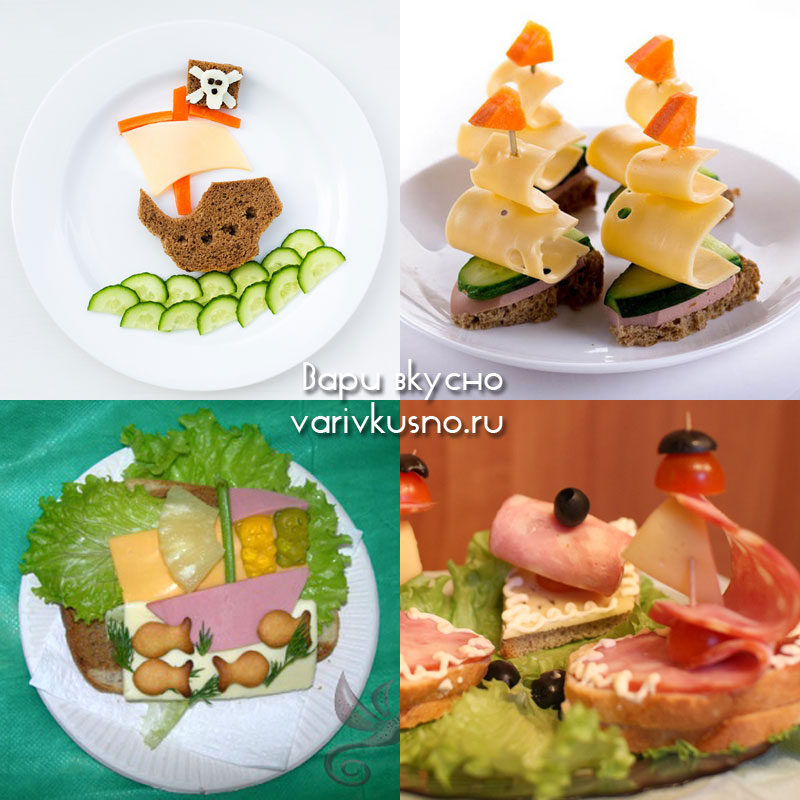бутерброды рецепты в форме палитры для красок