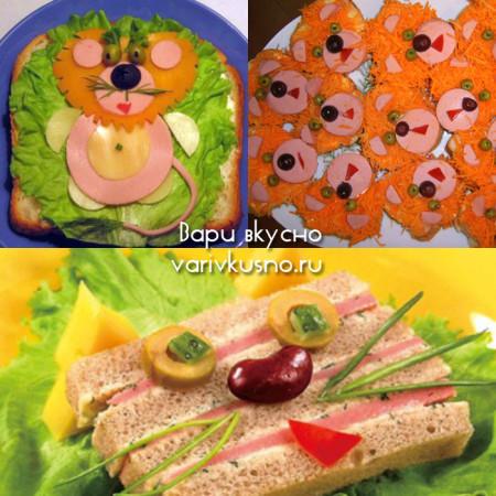 забавные бутерброды для детей фото