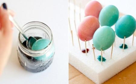 заготовки для пасхальных золотых яиц