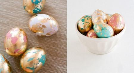 золотые яйца на Пасху съедобные