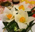 Цветы нарцисса из редьки