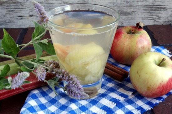 рецепт как варить компот из яблок