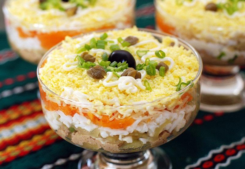 рецепты из печени трески салат из печени трески