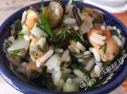 Постные рецепты салатов с мидиями