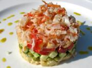 Постные салаты с крабами натуральными