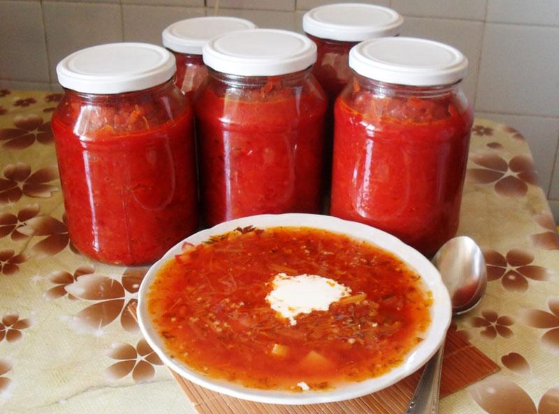 заправка для борща 3 кг свеклы 2 кг помидор 1 кг лука