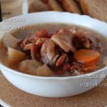 суп из баранины с фасолью в мультиварке-скороварке