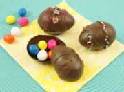 Шоколадные яйца с посыпкой